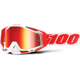 100% Racecraft Anti Fog Mirror Goggles röd